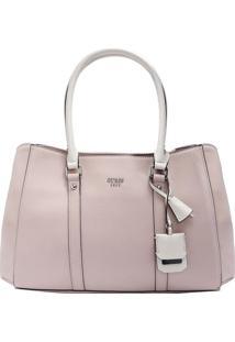 Bolsa Com Recortes & Bag Charm- Rosa Claro & Off White