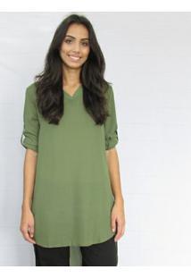 Camisa Fernanda Almeida Dora - Feminino-Verde