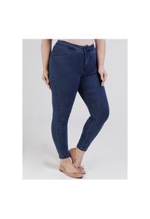 Calça Jeans Skinny Fit For Me Lunender Plus Size Feminina Azul