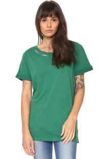 Camiseta Replay Rasgada Verde