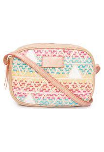 Bolsa Feminina Crossbody Kate Triangle Summer Colors - Marrom