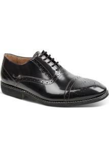 Sapato Social Oxford Couro Sandro & Co Masculino - Masculino-Preto