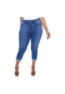 Calça Capri Jeans Feminina Plus Size Crocker - 47755