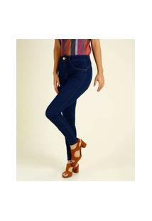 Calça Jeans Skinny Feminina Cintura Alta Biotipo