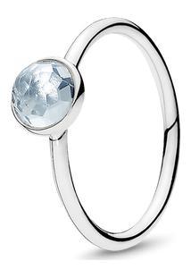 Anel Gota De Cristal Azul-Água - Março