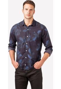 Camisa Ml Floral Oceano - Masculino