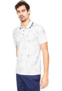 Camisa Polo Coca-Cola Jeans Regular Branca/Azul