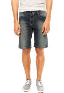 Bermuda Jeans Hurley Slim Azul