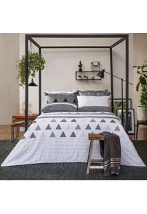 Jogo De Lençol Home Design Memphis Queen - Santista - Cinza