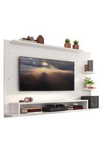 Painel Para Tv Até 60 Polegadas Madesa Alfa Com Prateleiras E Nichos - Branco Branco