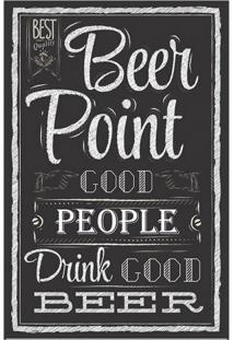 Placa Decorativa Beer Point Preta