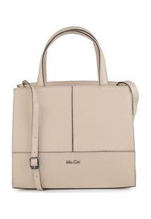 Bolsa Shoulder Bag Couro Recortes Kakhi - Kakhi/Un