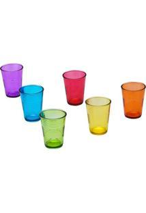 Conjunto De Copos Party Translucent Colors- Coloridolyor