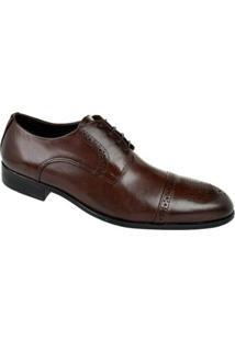 Sapato Social Couro Oxford Constantino Masculino - Masculino-Marrom