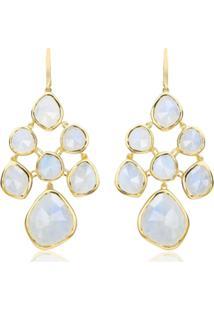 Monica Vinader Gp Siren Chandelier Moonstone Earrings - Dourado