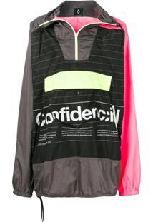 Marcelo Burlon County Of Milan Confidencial Hooded Pullover Jacket - Preto