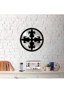 Escultura De Parede Wevans Mandala Emblem + Espelho Decorativo