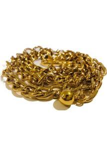 Cinto Cintos Exclusivos Corrente Dourado