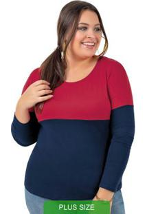 Blusa Em Malha De Viscose Vermelho