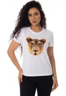 Camiseta Familia Leoa Thiago Brado 6027000001 Branco - Branco - Pp - Feminino
