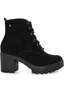 Bota Coturno Ramarim Ankle Boot Camurça - Feminino