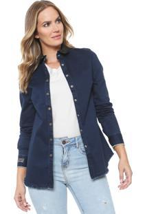 Camisa Jeans Carmim Versalhes Azul-Marinho