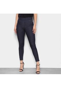 Calça Jeans Cigarrete Sawary Hot Pants Cintura Alta Feminina - Feminino