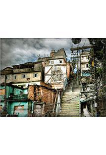 Jogo Americano Decorativo, Criativo E Descolado | Vista Do Morro Da Providência No Rio De Janeiro, Rj - Tamanho 30 X 40 Cm