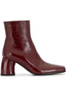 Ann Demeulemeester Ankle Boot Vernice - Vermelho