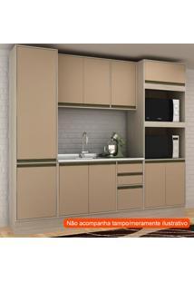 Cozinha Compacta Safira 10 Pt 3 Gv Capuccino E Creme