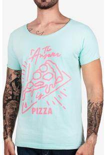 Camiseta Hermoso Compadre The Answer Is Pizza Masculina - Masculino