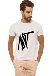 Camiseta Joss - Not - Masculina - Masculino-Branco