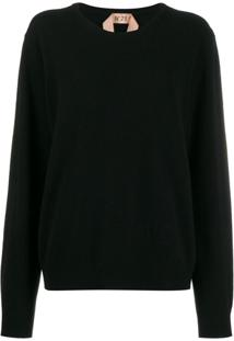 Nº21 Suéter Decote Arredondado - Preto