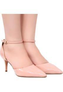 Sapato Zariff Shoes Noivas Scarpin Fivela - Feminino-Nude