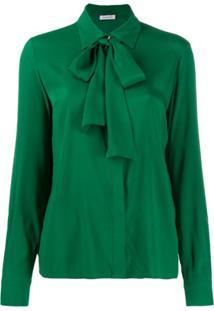 P.A.R.O.S.H. Blusa Com Laço Na Gola - Verde