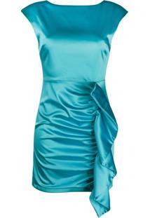 P.A.R.O.S.H. Vestido Alice Com Franzido Lateral - Azul