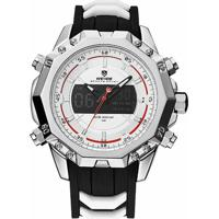 4b2691de9 Relógio Weide Anadigi Wh6401 Prata E Branco - Masculino
