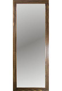 Espelho Emoldurado Em Mdf 67X172Cm Madeira Ouro