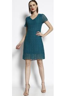 Vestido Em Renda - Verde - Cotton Colors Extracotton Colors Extra