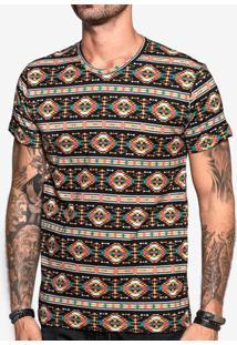 Camiseta Étnica Preta 103852
