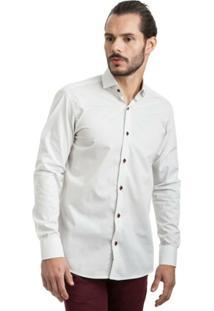 Camisa Di Sotti Microestampada Branca - Masculino