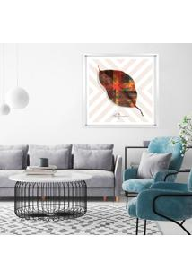 Quadro Com Moldura Chanfrada Rekte Al Lã¡ Supri All Leafman Branco - 90X90 - Multicolorido - Dafiti