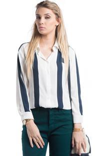 Camisa Marcia Mello Recortes Geometricos Branco