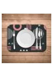 Jogo Americano Wevans Geometric Pink Kit Com 2 Pçs