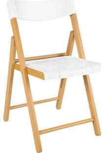 Cadeira Dobrável Verniz/Branco Potenza