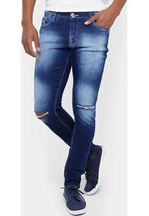 Calça Jeans Skinny Preston Índigo Masculina - Masculino