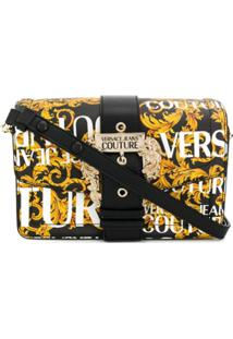 Versace Jeans Logo Baroque Shoulder Bag - Preto