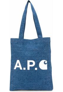 A.P.C. Bolsa Tote Jeans X Carhatt Interation Wip - Azul