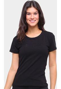 Camiseta Coca Cola Coke Jeans Básica Feminina - Feminino-Preto