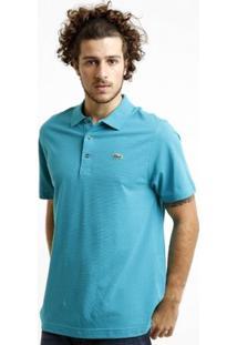 Camisa Polo Lacoste Super Light Masculina - Masculino-Azul Piscina
